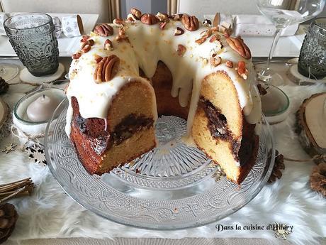 Bundt cake de Noël farci aux épices et noix de pécan - Dans la cuisine d'Hilary