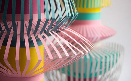 Colorful paper art by Maud Vantours