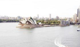 View of the Sydney opera.
