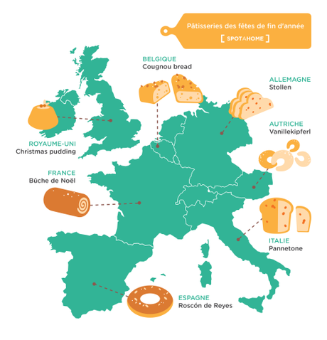 Tour d'Europe des pâtisseries de Noël