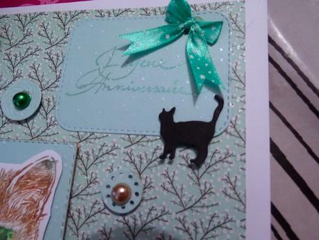 Carte anniversaire pour une amie des chats