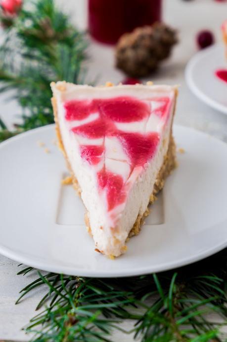 No Bake White Chocolate Cranberry Pie