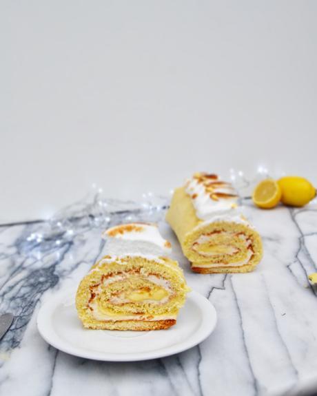 Bûche roulé façon tarte au citron meringué