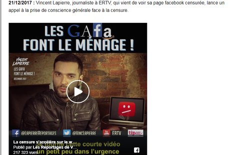 @VincLapierre, petit facho d'E&R, « journaliste » ? « Censuré » ?  on ne rit pas… #antifa
