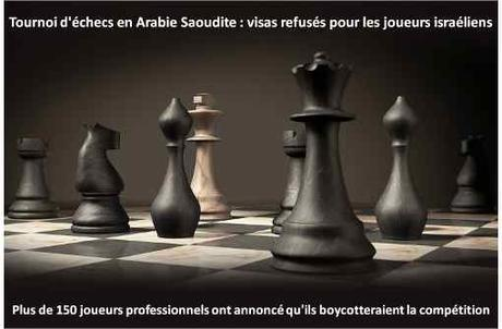 Tournoi d'échecs en Arabie saoudite: visas refusés pour les joueurs israéliens