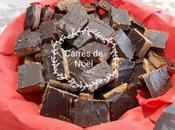 Petits carrés chocolat-caramel noisettes