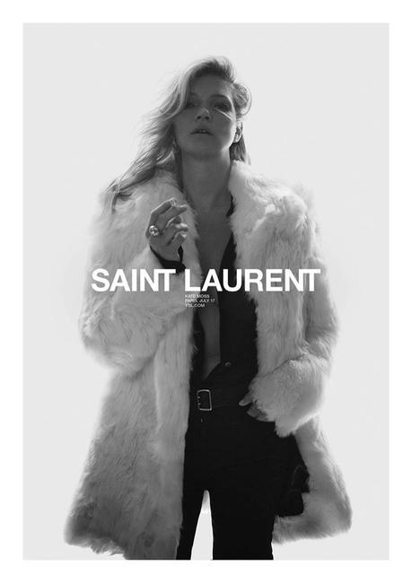 Kate Moss, le nouveau visage de Saint Laurent