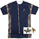 Popfunk Star Trek Discovery Command Uniform Adult Short Sleeve T Shirt (Large)