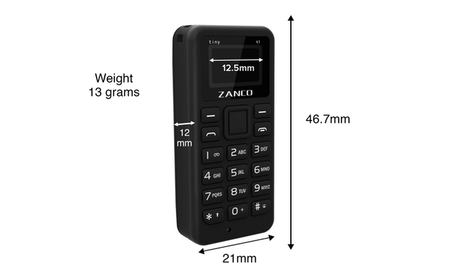 Zanco tiny t1, le plus petit téléphone portable en projet Kickstarter !