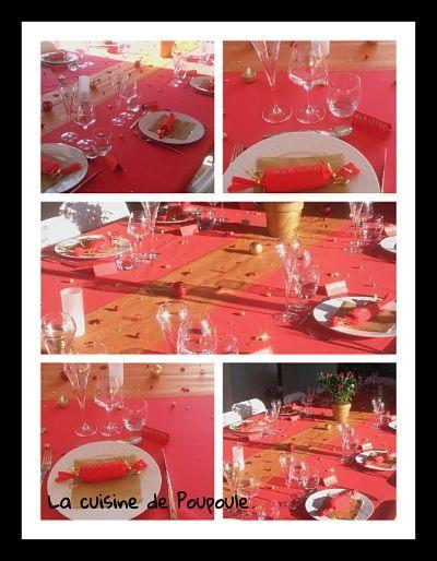 Ma table de noël (2017) rouge et or