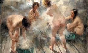 Piégées dans un sauna nudiste