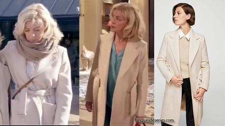 DEMAIN NOUS APPARTIENT : Marianne et son joli manteau écru dans l'épisode 112