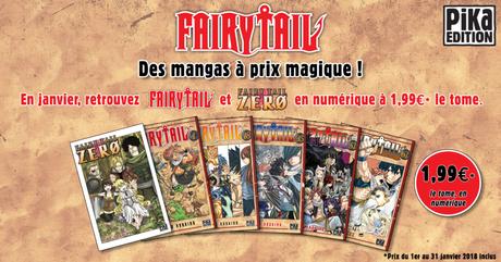 Fairy Tail : le manga au format numérique à prix réduit en janvier chez Pika !