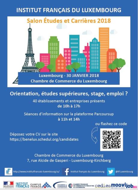 Salon Etudes & Carrières : mardi 30 janvier à Luxembourg