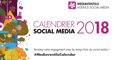 Calendrier Social Media 2018