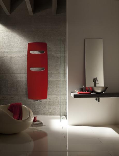 seche serviette Acova salle de bain rouge gris myacova3d