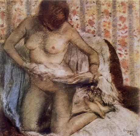 Degas - Femme s'essuyant après le bain, 1884