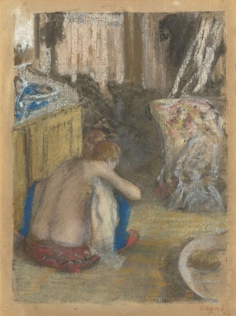Degas - Femme nue accroupie, de dos, 1877