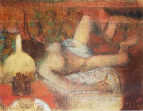 Edgar Degas - Femme s'essuyant, Pastel - 1888