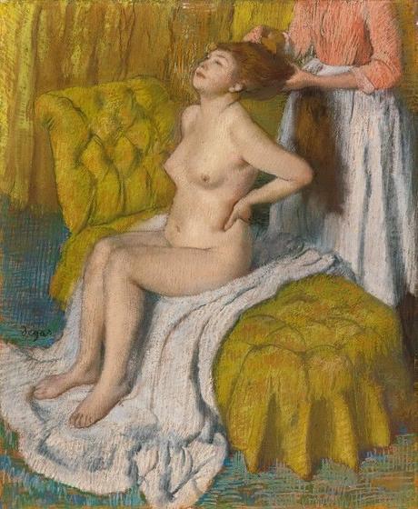 Degas - Femme se faisant peigner, 1886/1888