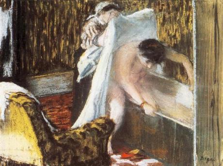 Degas - Femme sortant du bain, vers 1885