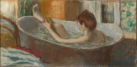 Degas - Femme dans sa baignoire s'épongeant la jambe, 1883