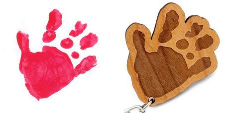 Porte-clés empreinte de main ou de pied personnalisé