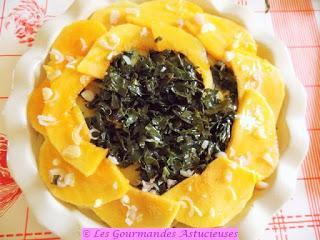 Mille-feuilles de courge, chou et pommes de terre (Vegan)