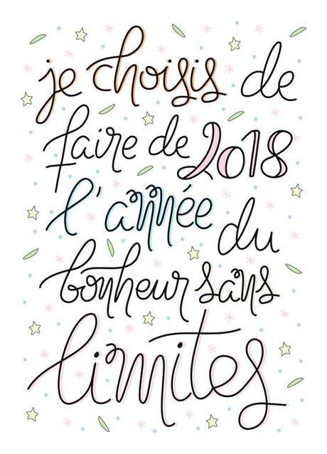 Mes résolutions pour 2018