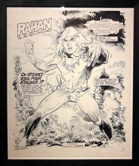 Exposition Rahan bande dessinée Chéret Lecureux galerie Huberty et Breyne rétrospective Paris