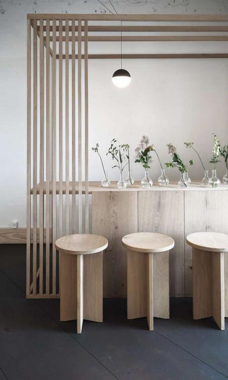 tendance japandi style scandinave japonais bar cuisine ouverte bois