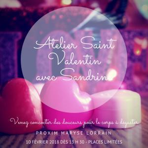 Atelier Saint-Valentin Samedi 10 février 2018