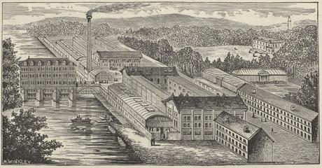 La Chocolaterie Menier vers la fin du 19e siècle.
