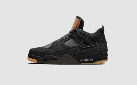 Levis x Air Jordan 4 black