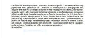 Résidence Saint-Ange  exposition Clément BAGOT  « Aviver les lignes » 10 Janvier au 9 Février 2018