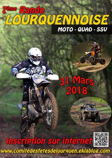 Rando moto, quad et SSV, La Lourquennoise (40), le 31 mars 2018