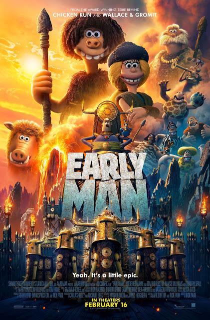 Nouvelle affiche UK pour Cro Man de Nick Park