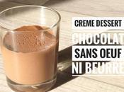 Crème dessert chocolat sans beurre oeuf