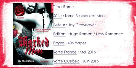 Marked Men #3 Rome de Jay Crownover