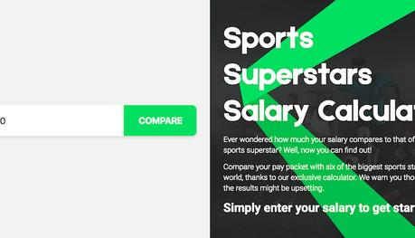 La calculette qui permet de savoir en combien de temps les sportifs gagnent votre salaire annuel