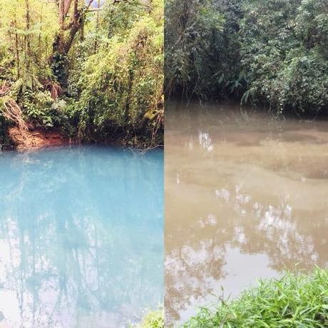 Des tremblements de terre ont décoloré le Rio Celeste