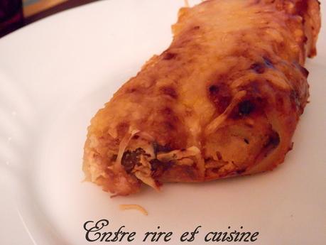Cannelloni de chair de crabe à la ricotta et légumes méditerranéens