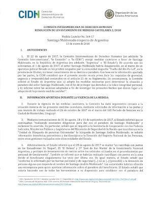 La CIDH lève son alerte sur l'Argentine dans l'affaire Maldonado [Actu]