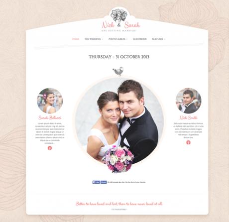 23 Themes WordPress pour créer un site de mariage