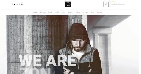 10 Themes WordPress pour créer une site de Musique