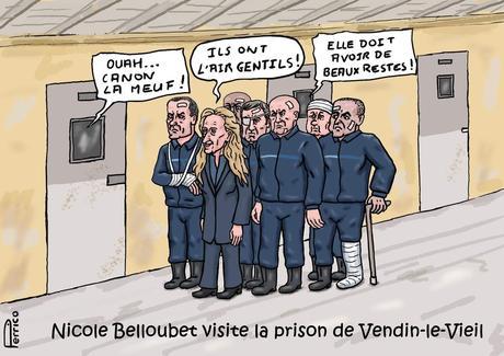 Nicole Belloubet au pied du mur