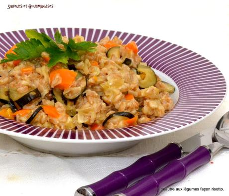 Épeautre Farro aux légumes façon Risotto.