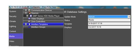 elan ir database settings