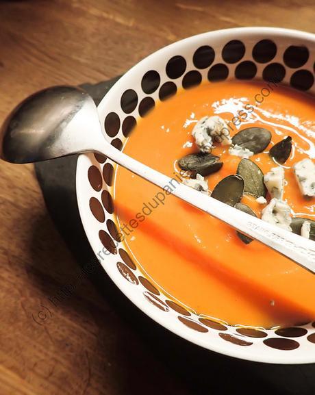 Soupe à la courge et à la fourme / Squash and Blue Cheese Soup