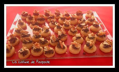 MIni-tartelettes au caviar d'olives au thermomix ou sans